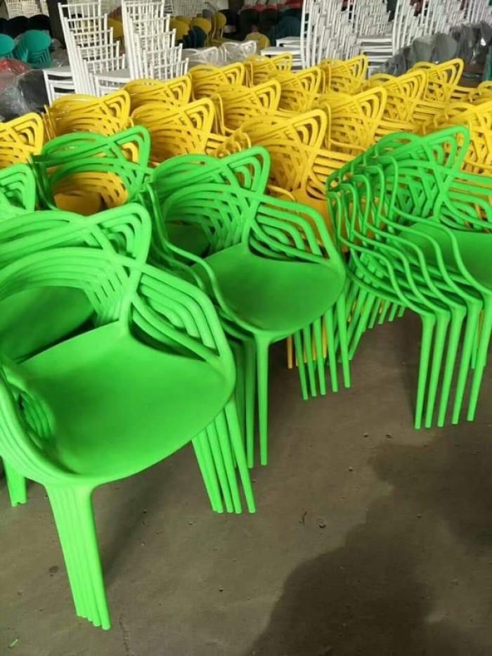 Xả kho thanh lý lô ghế nhựa đúc nhiều màu nhiều mẫu mã2