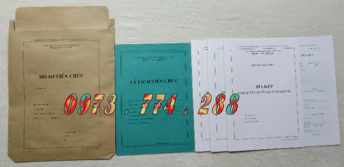 Quyển lý lịch viên chức - Mẫu HS01-VC/BNV ban hành theo thông tư số 07/2019/TT-BNV24