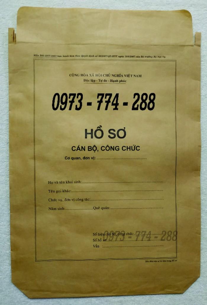 Túi hồ sơ công chức mẫu b0131
