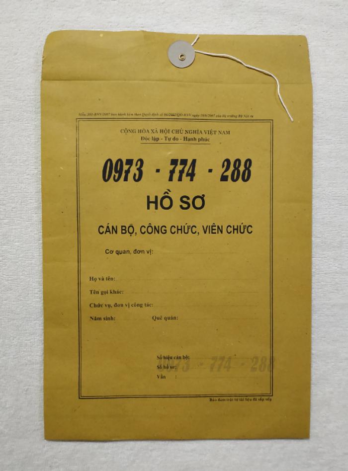 Bán vỏ hồ sơ cán bộ viên chức24