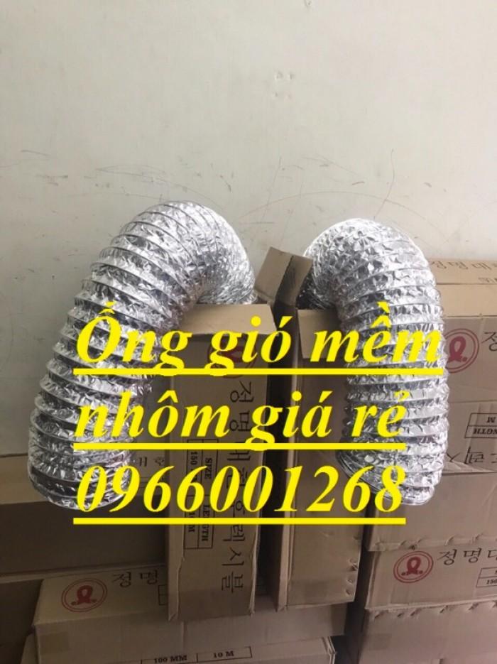Ống gió mềm nhôm Hàn Quốc cuộn dài 10m D100,D125,D150,D200,D250,D300 giá rẻ2