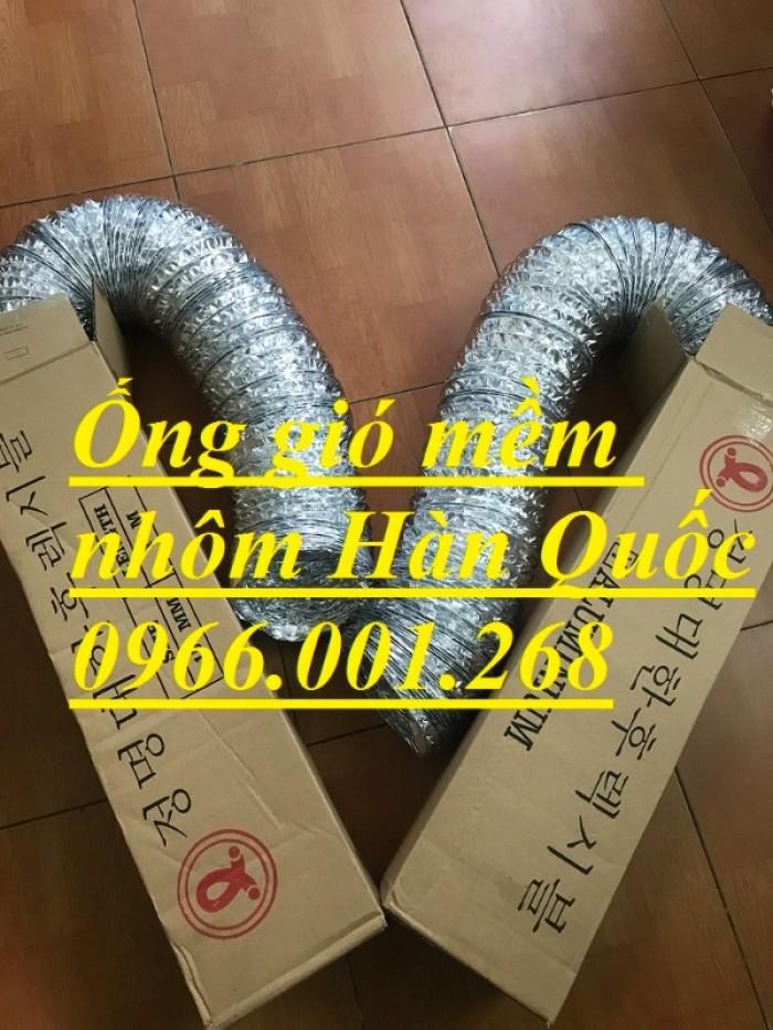 Ống gió mềm nhôm Hàn Quốc cuộn dài 10m D100,D125,D150,D200,D250,D300 giá rẻ5