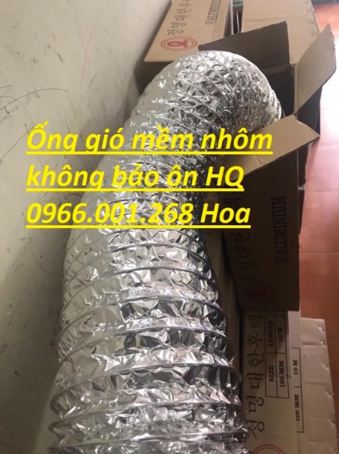 Ống gió mềm nhôm Hàn Quốc cuộn dài 10m D100,D125,D150,D200,D250,D300 giá rẻ8
