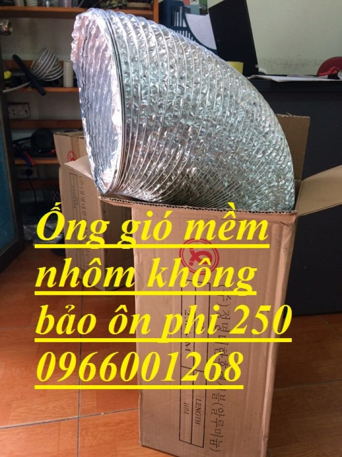 Ống gió mềm nhôm Hàn Quốc cuộn dài 10m D100,D125,D150,D200,D250,D300 giá rẻ4