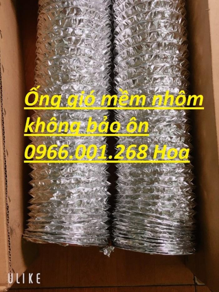 Ống gió mềm nhôm Hàn Quốc cuộn dài 10m D100,D125,D150,D200,D250,D300 giá rẻ12