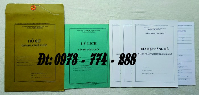 Bộ hồ sơ viên chức - Hồ sơ cán bộ, viên chức10