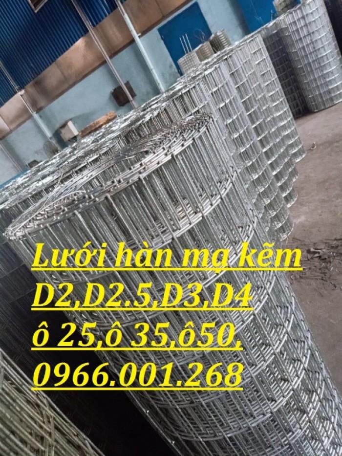 Lưới thép hàn mạ kẽm dây 2ly ô 25x25,2.5 ly ô 35x35,3ly ô 50x50,4ly ô 50*505