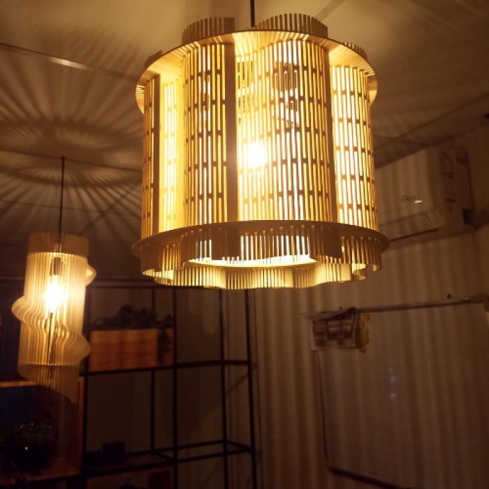 đèn gỗ trang trí đẹp tại HCM 19