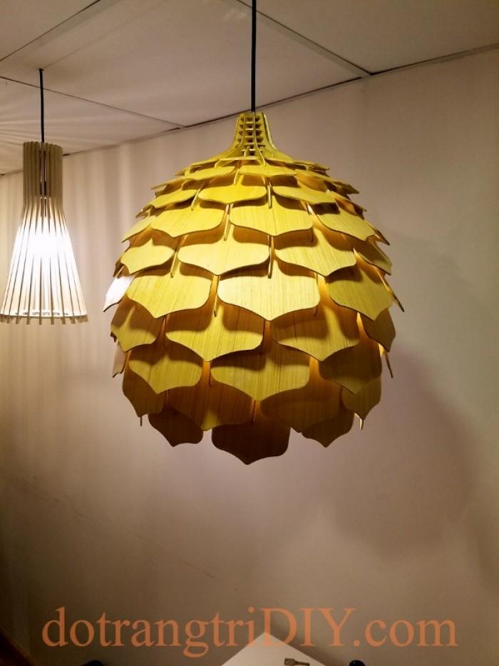 Đèn gỗ thả trần trang trí tại Tp.HCM23