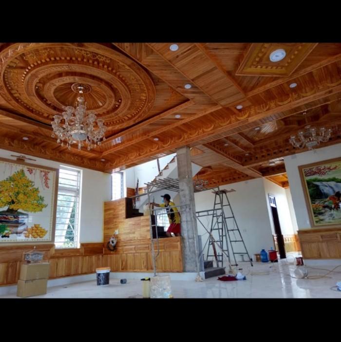 Chuyên thi công trần gỗ0