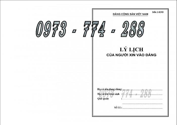 Quyển lý lịch của người xin vào Đảng - Lý lịch Đảng viên1