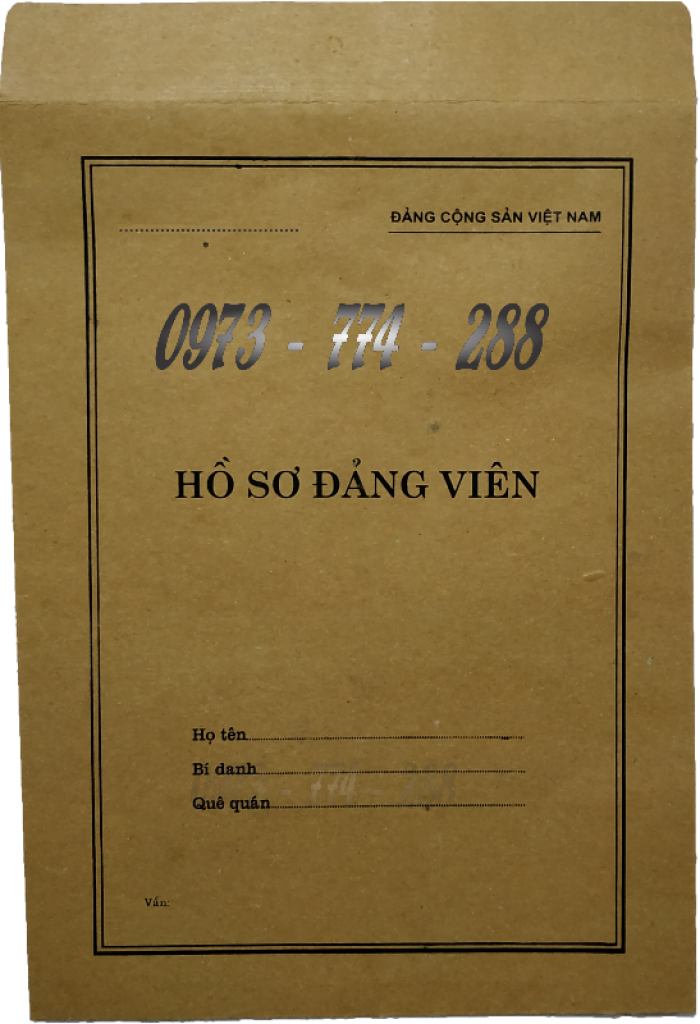 Quyển lý lịch của người xin vào Đảng - Lý lịch Đảng viên30