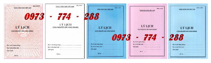 Lý lịch của người xin vào đảng mẫu 2-KNĐ- Lý lịch đảng viên mẫu 1-HSĐV0