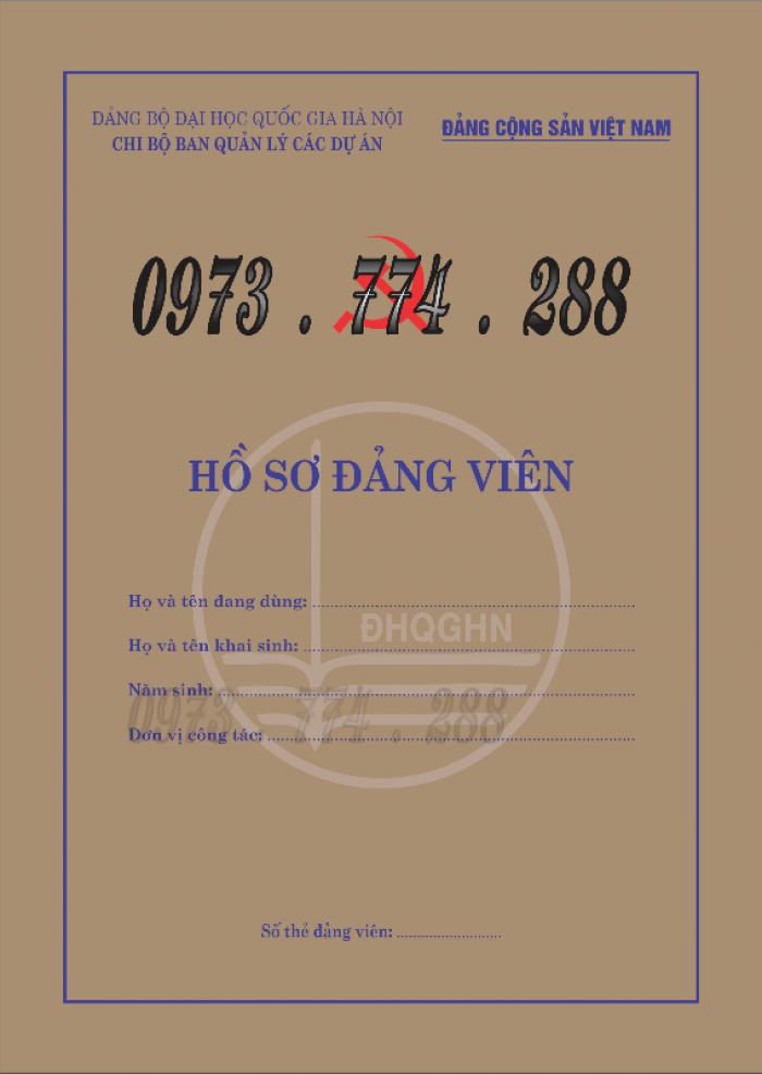Lý lịch của người xin vào đảng mẫu 2-KNĐ- Lý lịch đảng viên mẫu 1-HSĐV21