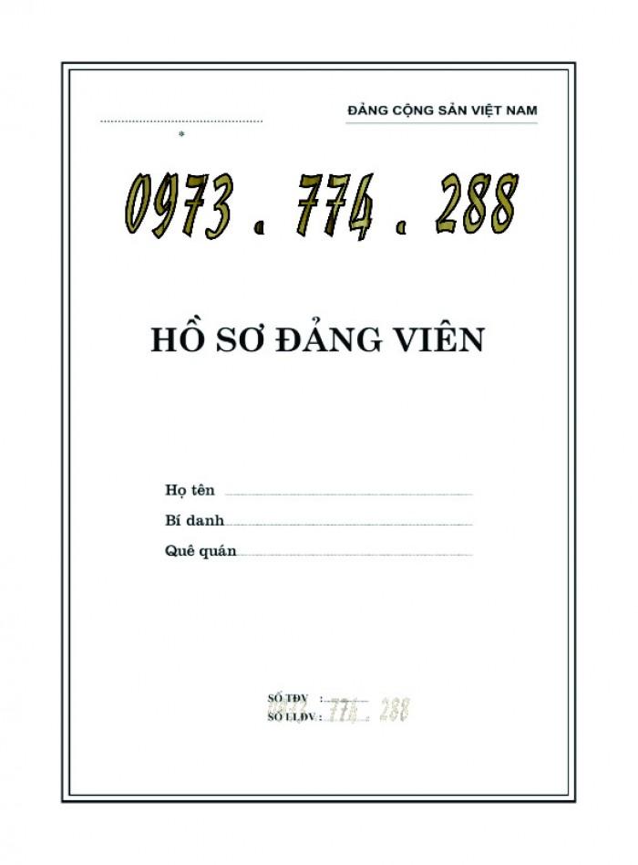 Lý lịch của người xin vào đảng mẫu 2-KNĐ- Lý lịch đảng viên mẫu 1-HSĐV25