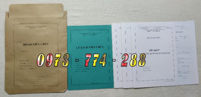 Bộ hồ sơ viên chức mẫu HS09-VC/BNV theo thông tư số 07/2019 mới nhất1