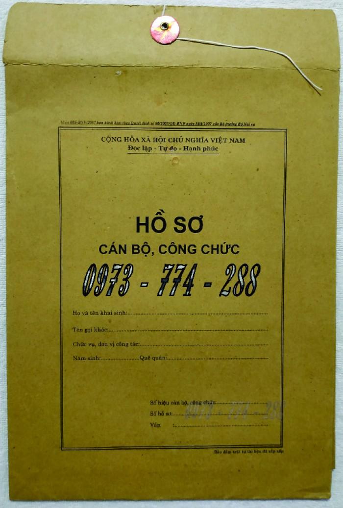 Bán vỏ hồ sơ cán bộ công chức viên chức26