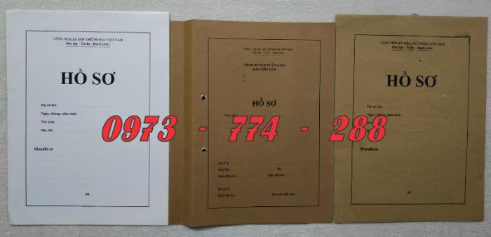 Túi hồ sơ công chức viên chức mẫu B0120