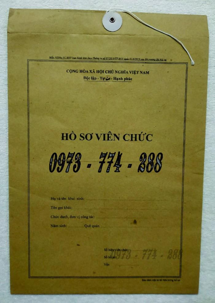 Túi hồ sơ công chức viên chức mẫu B0130