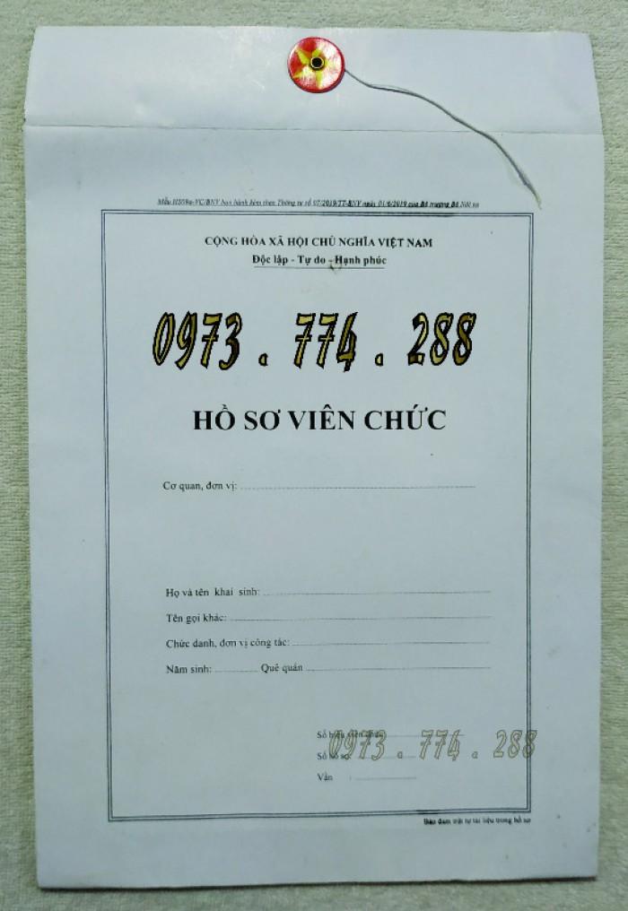 Bì hồ sơ viên chức theo Thông tư 07/2019/TT-BNV ngày 01/06/2019 của Bộ Nội vụ.1