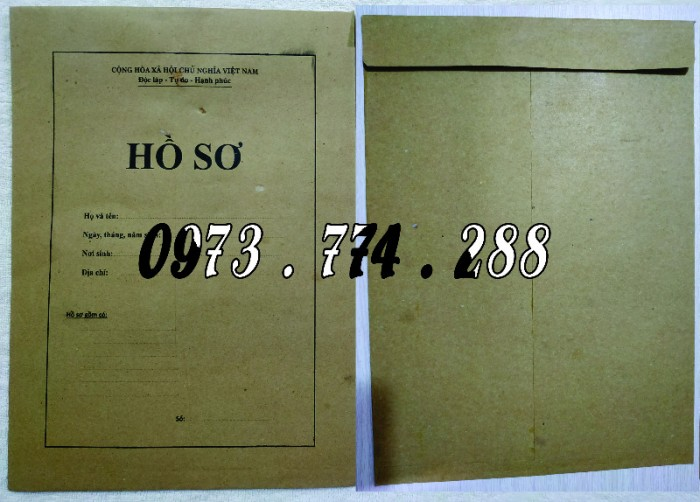 Bì hồ sơ viên chức theo Thông tư 07/2019/TT-BNV ngày 01/06/2019 của Bộ Nội vụ.21