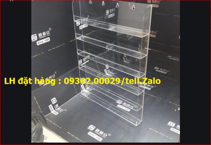 Cung cấp các mẫu khay mica đựng mỹ phẩm , kệ đựng nail treo tường giá rẻ1