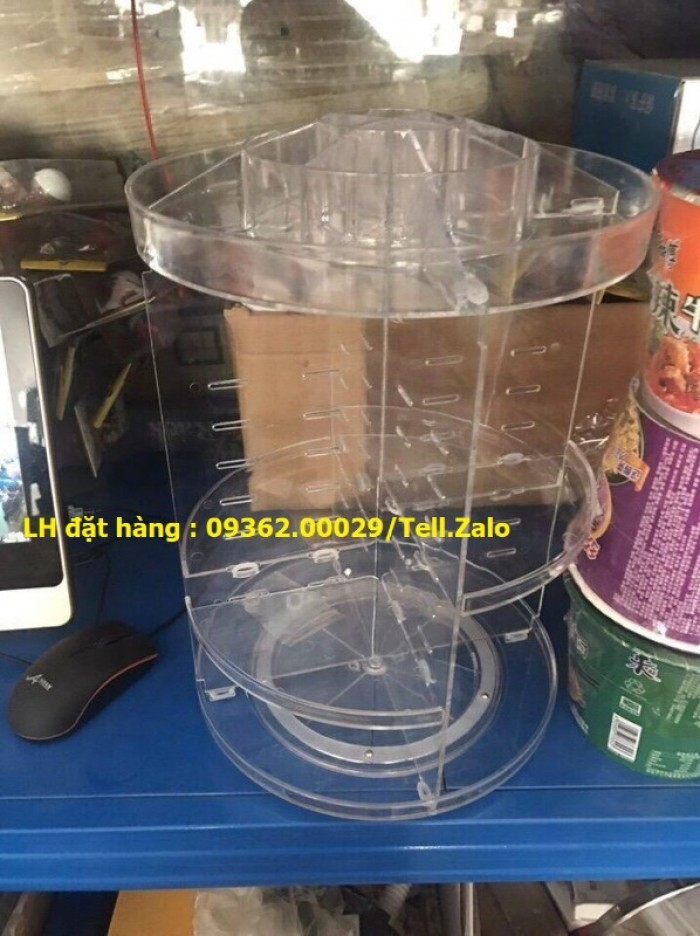 Cung cấp các mẫu khay mica đựng mỹ phẩm , kệ đựng nail treo tường giá rẻ11