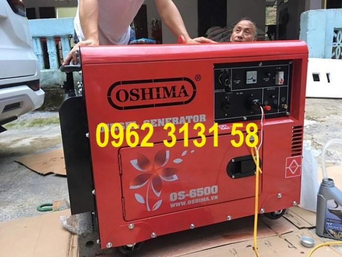 Máy phát điện chạy dầu 5kw Oshima OS6500 đề nổ, siêu cách âm xuất Nhật Bản