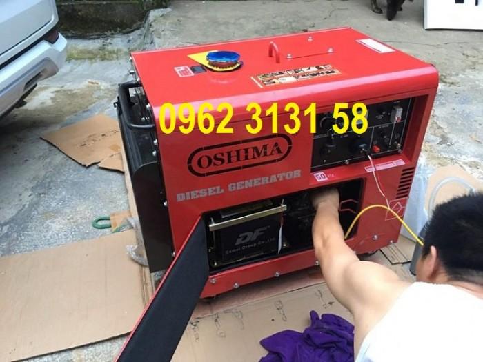 Máy phát điện chạy dầu 5kw Oshima OS6500 đề nổ, siêu cách âm xuất Nhật Bản1
