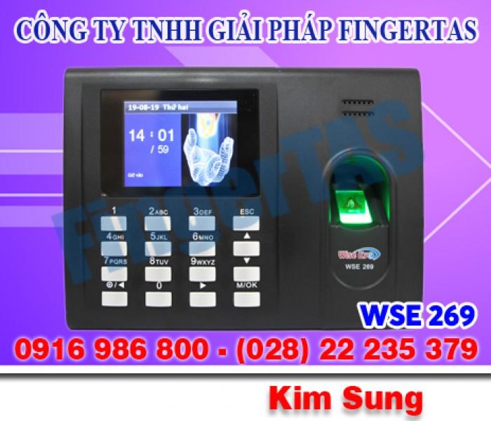 Máy chấm công bằng vân tay WSE269, lắp miễn phí giá rẻ nhất0