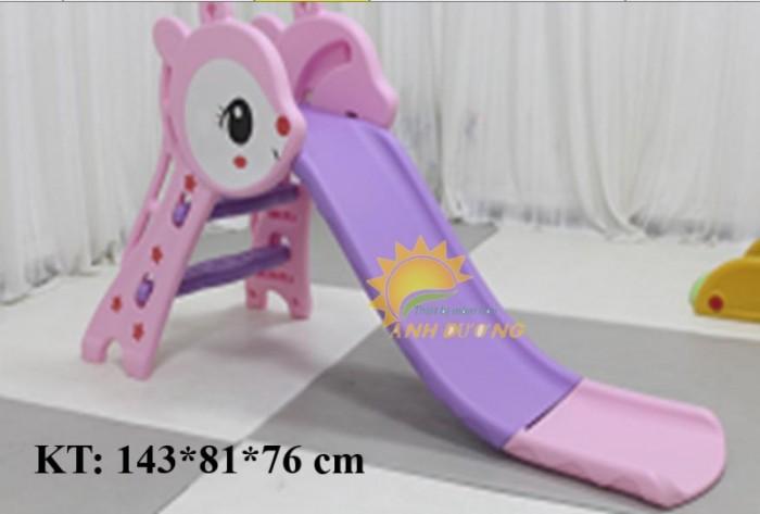 Bộ cầu trượt kèm xích đu cho trẻ em mầm non giá ưu đãi5