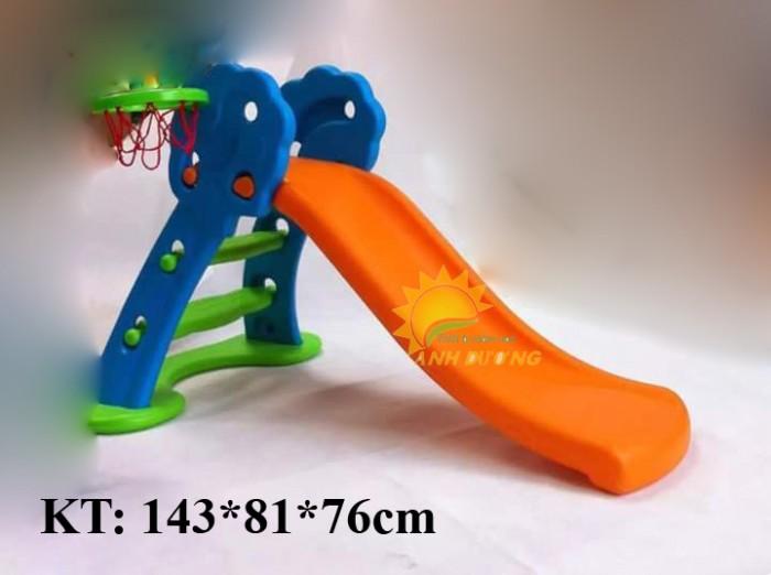Bộ cầu trượt kèm xích đu cho trẻ em mầm non giá ưu đãi6
