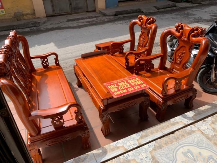 Bộ bàn ghế giả cổ minh quốc đào gỗ gụ1