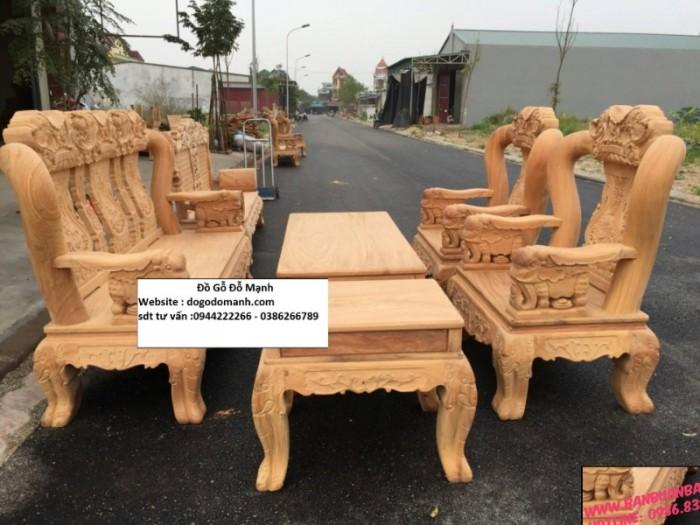 Bộ bàn ghế minh quốc voi gỗ gõ đỏ10
