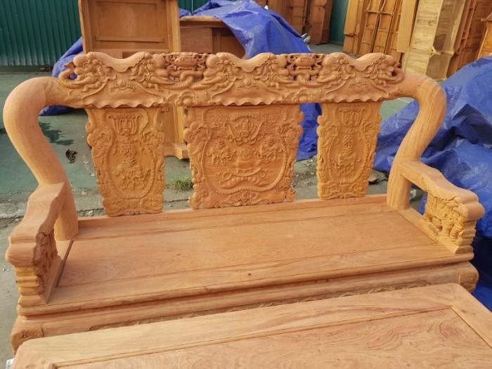 Bộ bàn ghế minh quốc voi gỗ gõ đỏ9