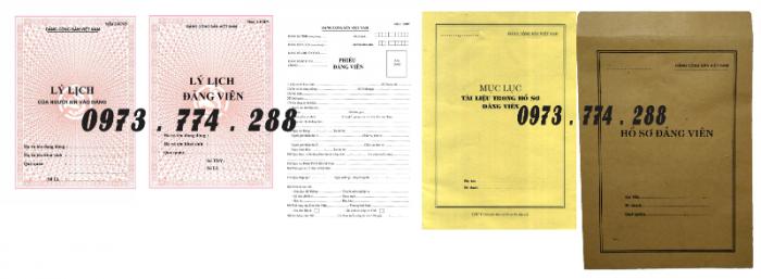 Bộ hồ sơ Đảng viên đầy đủ gía rẻ0