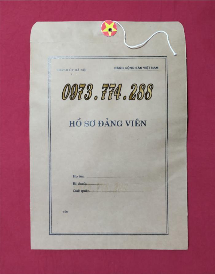 Bộ hồ sơ Đảng viên đầy đủ gía rẻ13