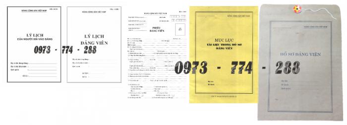 Bộ hồ sơ đảng viên chính thức1