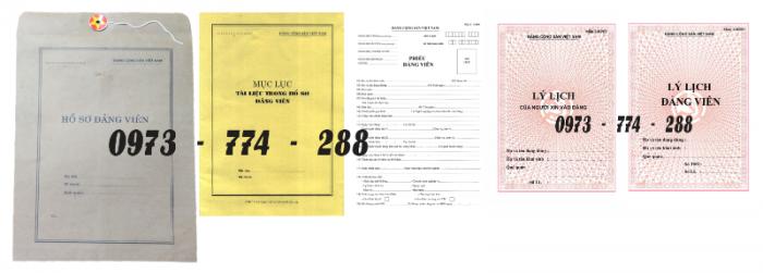 Bộ hồ sơ đảng viên chính thức2