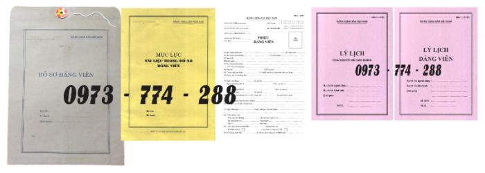 Bộ hồ sơ đảng viên chính thức3