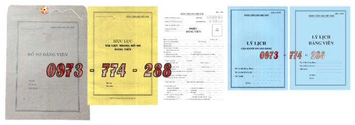 Bộ hồ sơ đảng viên chính thức4