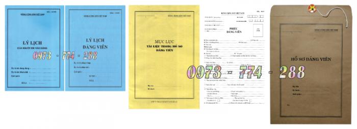 Bộ hồ sơ đảng viên chính thức5