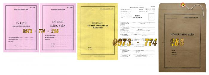 Bộ hồ sơ Đảng viên đầy đủ gía rẻ16