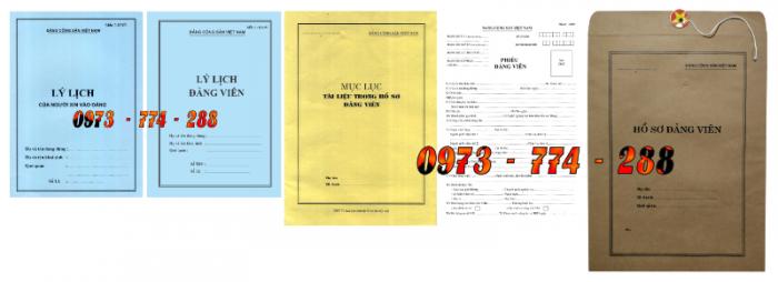Bộ hồ sơ Đảng viên đầy đủ gía rẻ17