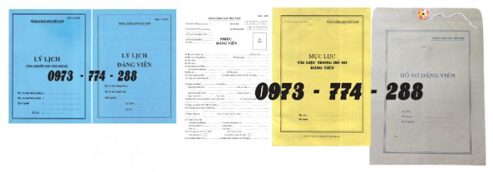 Bộ hồ sơ Đảng viên đầy đủ gía rẻ18