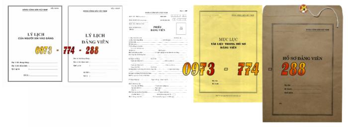 Bán bộ hồ sơ Đảng viên13