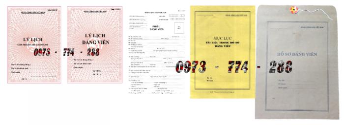 Bán bộ hồ sơ Đảng viên14