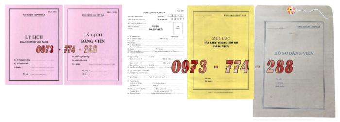 Bán bộ hồ sơ Đảng viên15