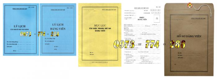Bán bộ hồ sơ Đảng viên17