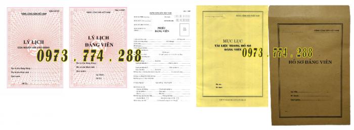 Bán bộ hồ sơ Đảng viên19